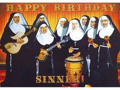 retro kitsch nuns sinner birthday card t2-640x480