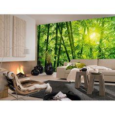 Bamboo Forest - Papier  Fototapete (8-teilig, 366 x 254 cm), inklusive Anleitung und Qualitätskleister