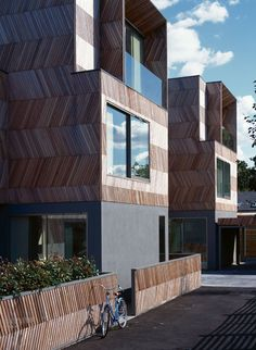 Herringbone Houses by Alison Brooks Architects #architecture #residential #herringbone