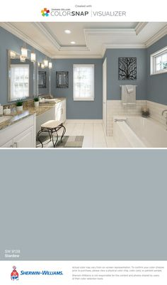 I found this color with ColorSnap® Visualizer for iPhone by Sherwin-Williams: Agreeable Gray (SW This is the interior wall color thru out my home Interior Paint Colors, Paint Colors For Home, House Colors, Beige Paint Colors, Paint Colors For Living Room, Interior Walls, Wall Colors For Bedroom, Colors For Bedrooms, Indoor Paint Colors