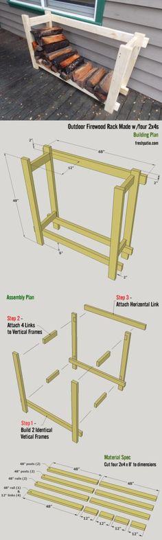 Free Firewood Rack Plan 1