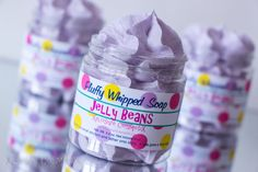 Fluffy Whipped Soap  Jelly Beans  4 oz. Vegan by XplosiveCosmetiX