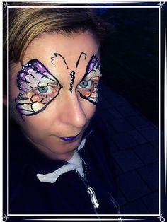 #kleurtjesvanjade #onestrokes #colorful #dutchie #inspirationtopaint #butterfly #facepaint #facepainter