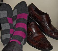 Socks n Double Monk Wingtips