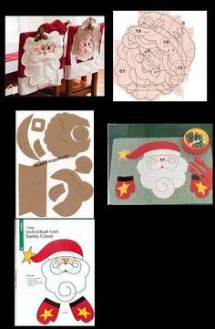 Capas de cadeira para o Natal Christmas Chair, Felt Christmas, Christmas And New Year, Christmas Stockings, Christmas Holidays, Xmas, Christmas Ornaments, Merry Christmas, Christmas Crafts For Gifts