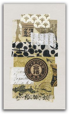 Two Hand Design 52 Weeks of Collage Part 2 Week 3 Asian Mixed Media Art, Mixed Media Collage, Mixed Media Canvas, Asian Art, Mix Media, Art Journal Pages, Junk Journal, Art Journaling, Paper Art