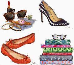 ilustraçoes de moda