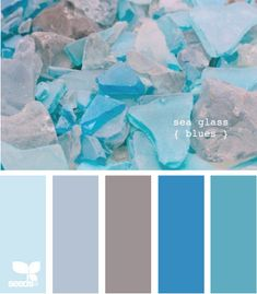 Wordless Wednesday - Sea Glass Color Palette. Would work great for spring, summer, or winter!
