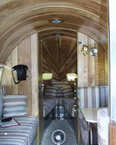 restored airstream trailers - Google Search ** Different style of wood