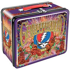 Grateful Dead - Steal Your Face Lunchbox-Grateful Dead - Anniversary Lunch Box You or your kid will be the hit at lunchtime when you bust out your lunch from this Grateful Dead lunchbox. It features imagery from the anniversary poster desig