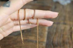 Long Single chain wrap bracelet    Reclaimed bronze chain