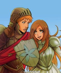 """batemeuma: """" Ichihime as soldiers… or rather a princess that can protect the soldier back. See more bleach fanart by. Bleach Fanart, Bleach Anime, Ichigo And Orihime, Anime Merchandise, Anime Characters, Fictional Characters, Anime Shows, Anime Love, Anime Couples"""