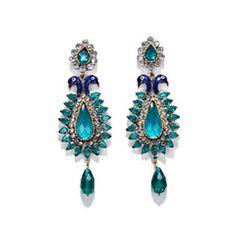 Peacock Earrings #peacockearrings #merchantsociety #oneofakind