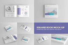 Square Book Mock-Up / Hardcover by ToaSin Studio on @creativemarket
