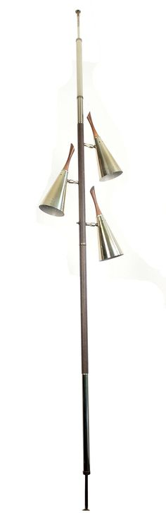 Mid Century Tension Pole Floor to Ceiling Lamp image 2