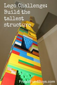 lego challenge tall building - a little practice in engineering, too! And to verify the height of the tallest, you will have to of course do some measuring! Great opportunities for fun education.