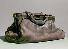 Marilyn Levine - Brown Satchel (1976) ceramic