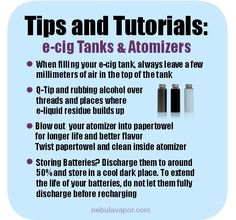 Tips and Tutorials on taking care of your tanks and atomizers