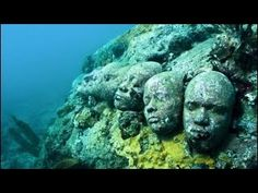 Art Scuba diving scares the crap out of me, but there's an underwater sculpture garden in Grenada that could change my mind; stone carvings are submersed and coral begins to grow on them my-awesome-board-of-awesome
