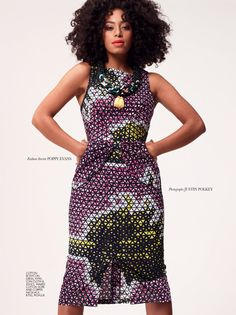 Solange Knowles in Loin Cloth & Ashes bodycon dress