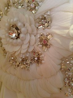 Wedding dress detailing embroidery beading gold