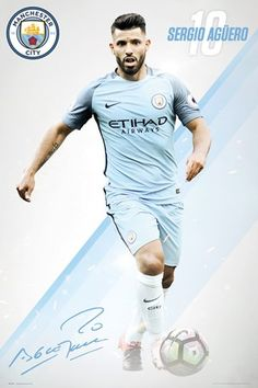 Manchester City - Soccer Poster / Print (Sergio Aguero - (Size: x Soccer Poster Sergio Aguero - Season Size: x Ships rolled in sturdy cardboard tube Football Boys, Football Match, Manchester City Wallpaper, Sergio Aguero, Kun Aguero, Soccer Poster, Sports Graphics, City Photography, Football Players