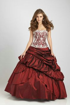 Appliques Ruched Pick Ups Strapless Lace Up Long Burgandy Quinceanera Dresses In Los Angeles
