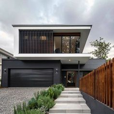 Modern architecture: what is it these days? (The Interiors Addict) - Modern architecture: what is it these days? House Cladding, Facade House, Modern House Facades, Modern House Design, Contemporary Benches, Duplex Design, Modern Contemporary Homes, Contemporary Cottage, House Front Design
