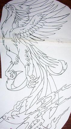 Phoenix Tattoo flash | phoenix tattoo design by tattoosuzette