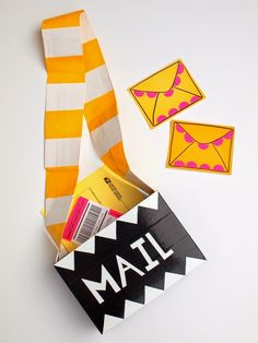 Cardboard Mail Carrier Bag - the kids will love this!