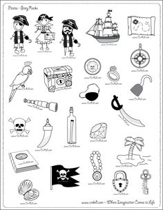 Pirates - drawing - writing - stories - story rocks - kindergarten - first grade… Pirate Treasure, Treasure Maps, Treasure Island, Pirate Maps, Pirate Theme, Teach Like A Pirate, Pirate Activities, Pirate Crafts, Drawing Activities
