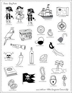 CreKid.com - FREE Story Rocks Printouts - Pirate Story Rocks - Spark your child's imagination and creativity. Preschool - Pre K - Kindergarten - 1st Grade - 2nd Grade - 3rd Grade. www.crekid.com