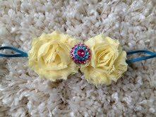Yellow Shabby Flower Infant Headband by HannahHeadbands on Etsy, $7.00