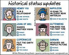 "20 Social Media Comics Worthy of the ""Love"" Button Funny Jokes, Hilarious, Grammar Humor, Biology Humor, Science Jokes, Chemistry Jokes, History Memes, Funny History, Read Comics"