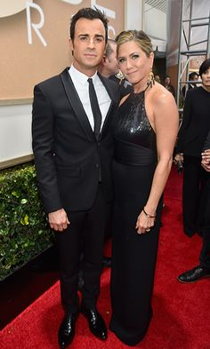 Justin Theroux and Jennifer Aniston  If George Clooney was the man of the hour, Jennifer Aniston was certainly the woman thanks to her highly acclaimed performance in 'Cake.' Her fiancé, Justin, who stars in 'The Leftovers,' likely had trouble hiding his excitement for his partner in crime, who slipped into a sexy, textured black Saint Laurent gown for the evening's festivities. Photo: © Getty Images
