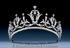 A magnificent Belle Epoque platinum and diamond tiara-necklace, of graduated scroll and foliate design, set throughout with old brilliant cut, single cut and rose cut diamonds. The tiara frame detaches with a small screwdriver and makes it into a wonderful necklace. France (?), ca 1905