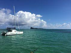 View on coin de mire from Bain Boeuf beach, Mauritius