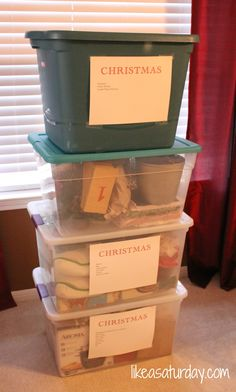 Idée déco & cadeau noël 2016 – How I Put Away Christmas {Without Losing My Mind} Christmas 2014, Christmas And New Year, All Things Christmas, Christmas Ideas, Xmas, Planning And Organizing, Organizing Ideas, Organising, Christmas Storage