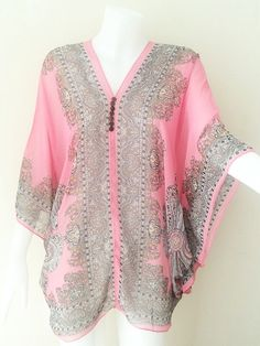 Beach Cover up Hippie Boho Spring Summer Tunic Caftan by WiwiKoko, $13.99