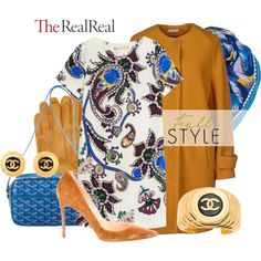 Fall Style With The RealReal: Contest Entry by kioriknight on Polyvore featuring Mary Katrantzou, Manuel Ritz, Christian Louboutin, Goyard, Chanel, Prada and Sarah & Sorrentino