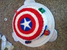 Captain America cake!