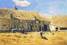 Farmyard at Chailly, 1865Claude Monet