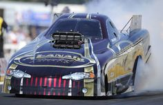 Frank Manzo clinches his 17th Top Alcohol Funny Car Championship at Las Vegas in October 2013. Frank is retiring at the end of the year