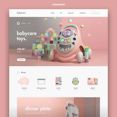 Babycare by Kim Yeonhee / Daily inspiration, follow us and get inspired. #dailydesign #dailyui #websites #webdesign #webdesigner #designer…