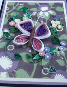 I like the way this blends quilling with the background paper.