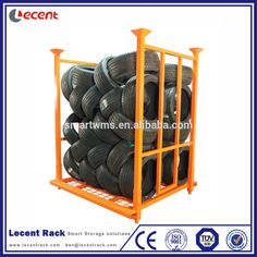 Warehouse Industrial Stackable Steel Tyre Pallet Rack With Wire Mesh