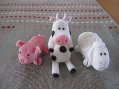 Pig, cow and sheep