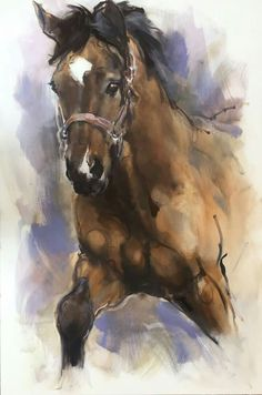 Watercolor Horse, Watercolor Animals, Watercolor Paintings, Watercolours, Painted Horses, Horse Canvas Painting, Canvas Art Projects, Horse Artwork, Horse Drawings