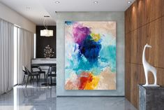 Items similar to Large Modern Wall Art Painting,Large Abstract wall art,texture art painting,abstract originals,bathroom wall art on Etsy Bright Paintings, Unique Paintings, Abstract Paintings, Canvas Wall Decor, Home Decor Wall Art, Oversized Canvas Art, Large Canvas, Gold Canvas, Large Abstract Wall Art