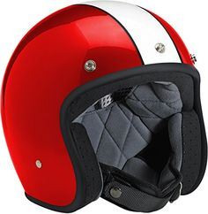Special Offers - Biltwell Bonanza Racer Open Face Helmet Red White Large - In stock & Free Shipping. You can save more money! Check It (August 30 2016 at 11:03PM) >> http://motorcyclejacketusa.net/biltwell-bonanza-racer-open-face-helmet-red-white-large/